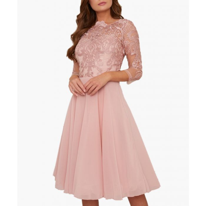 Image for Genesis rose gold-tone lace dress