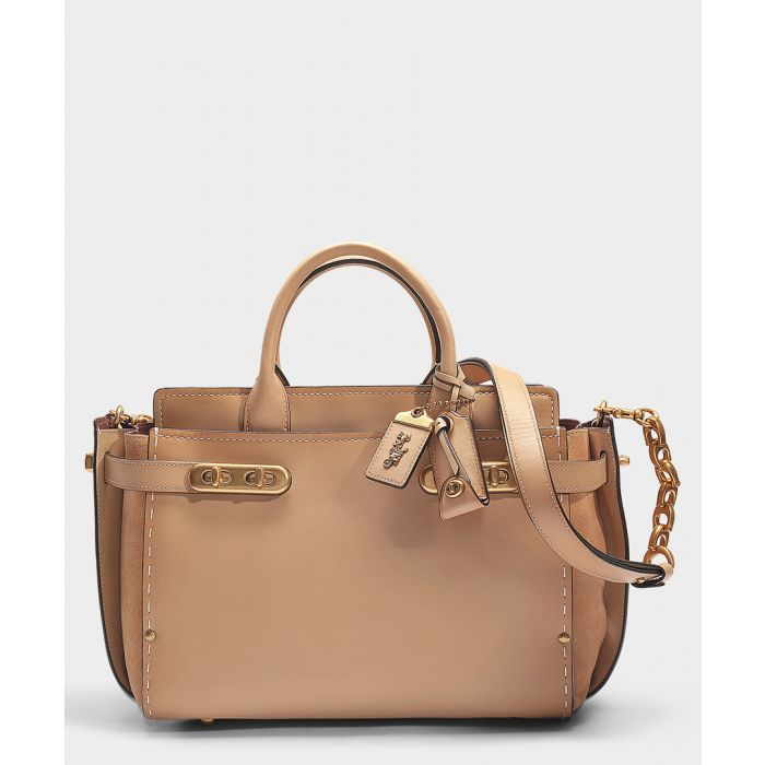 Image for Double swagger beechwood leather bag