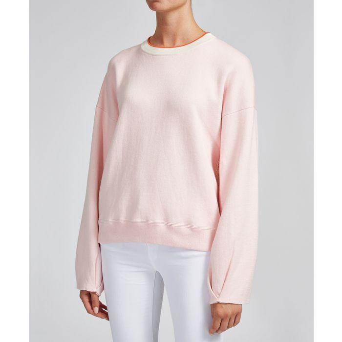 Image for Elsa blush cotton & cashmere sweatshirt