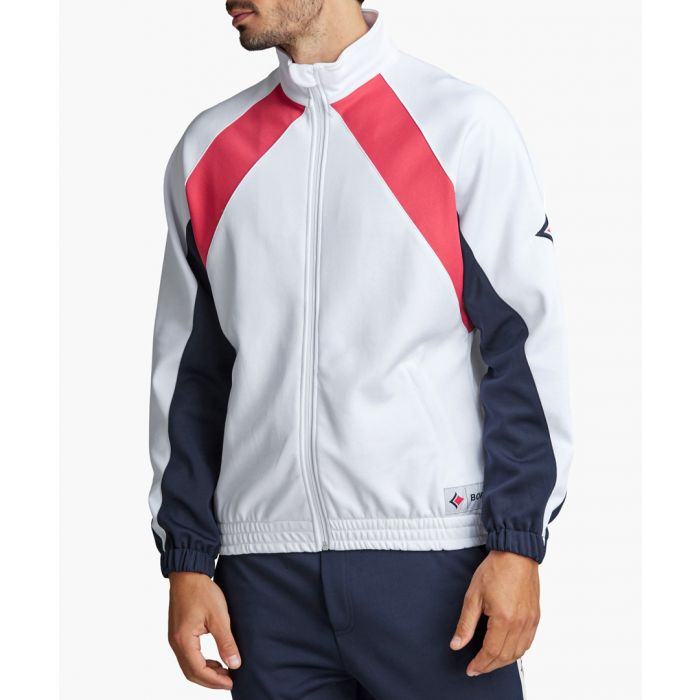 Image for Archive white organic cotton blend track jacket