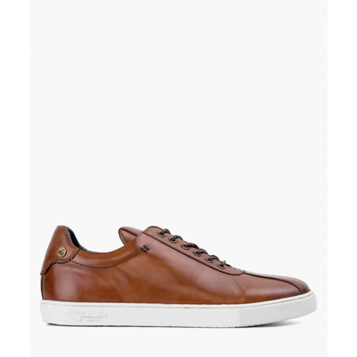 Image for Tan leather trainers
