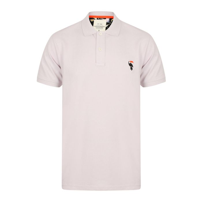 Image for Osasco grey pure cotton polo T-shirt