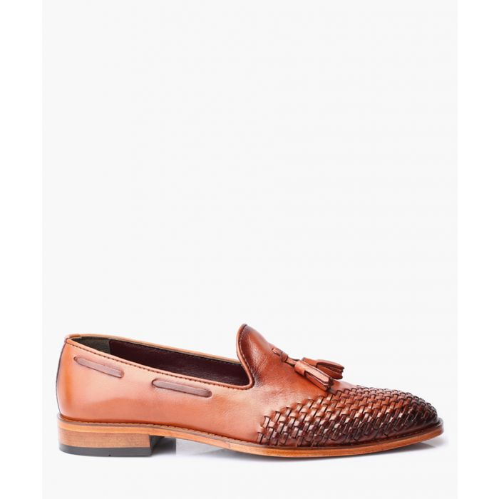Image for Tan leather loafers