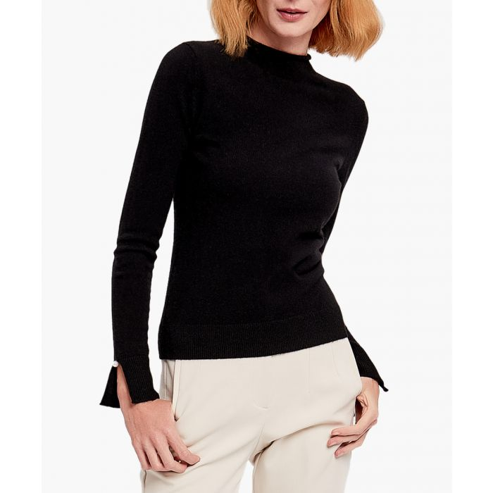 Image for Black pure cashmere jumper