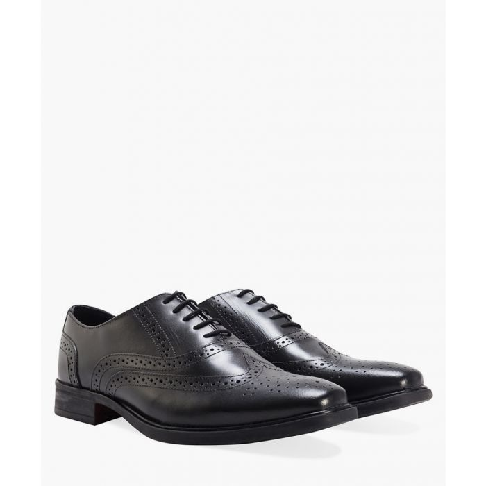 Image for Black leather Oxford brogues