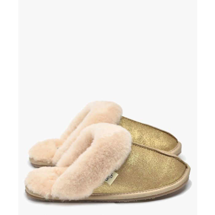 Image for Gracie gold shearling slippers