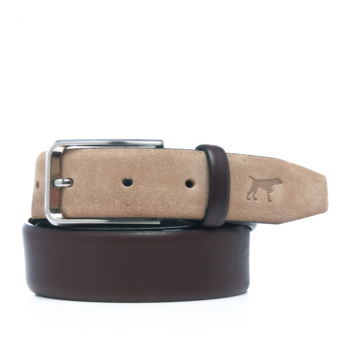 Image for Beige leather engraved belt