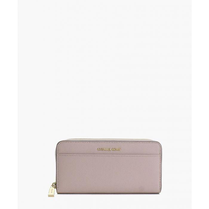 Image for Jet Set soft pink leather wallet