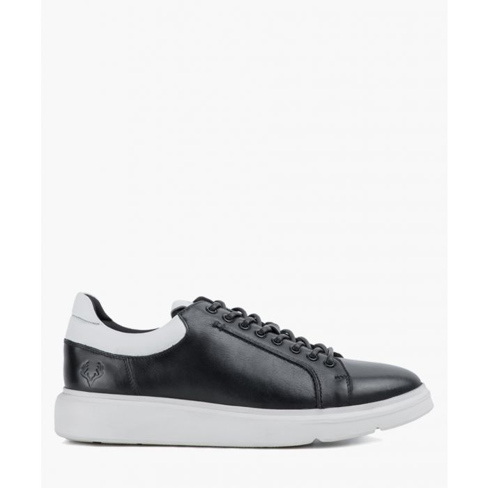 Image for Black leather trainers