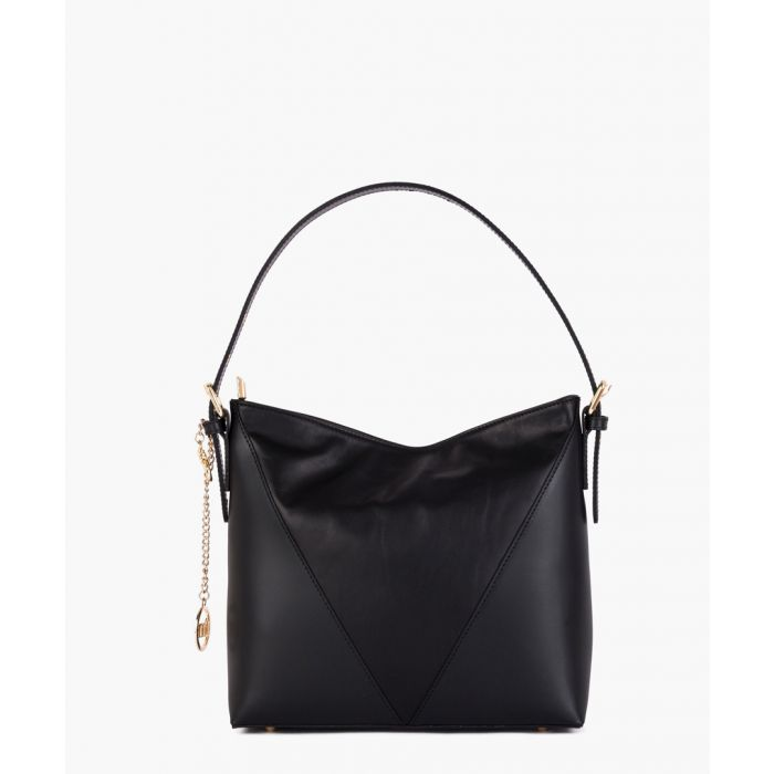 Image for Ticinese black leather grab bag