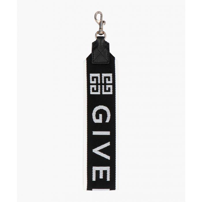 Image for 4G black and white wrist strap large keyring