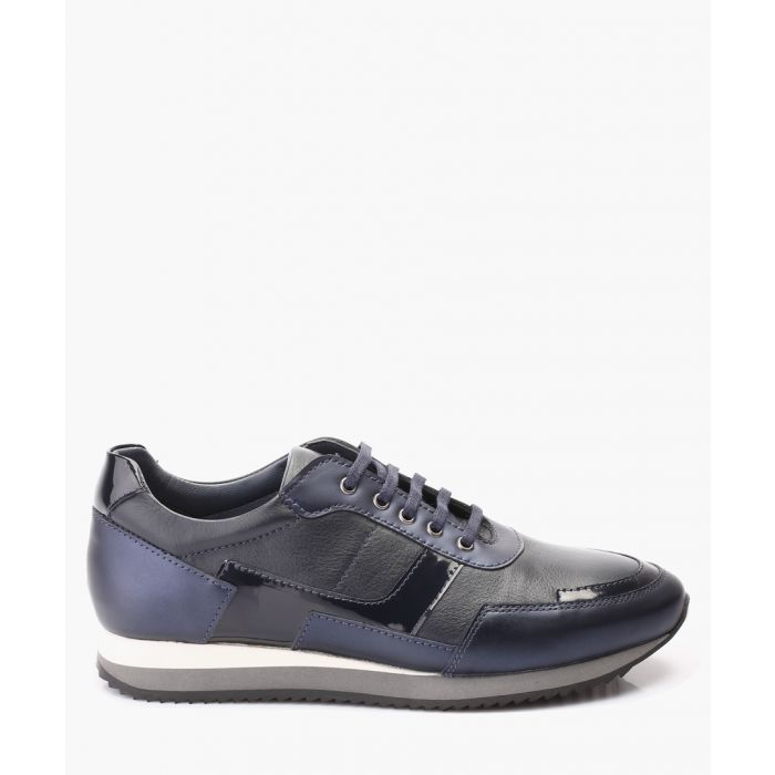 Image for Blue leather trainers