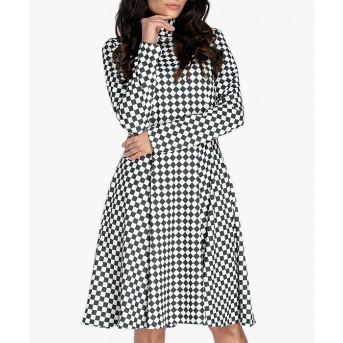 Image for Checked knit dress