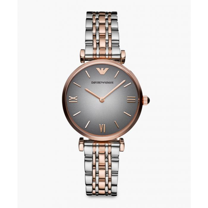 Image for Two tone metal analogue quartz watch