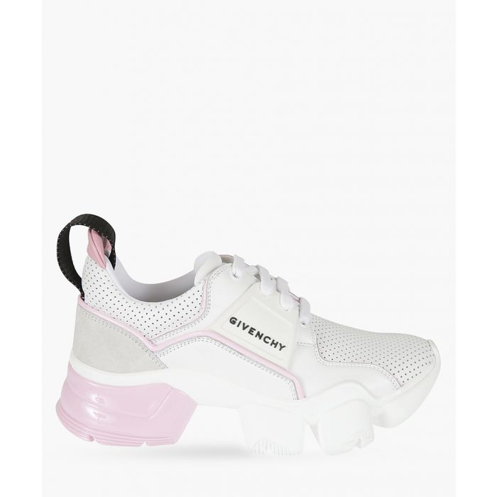 Image for jaw low-top sneakers in neoprene and perforated leather