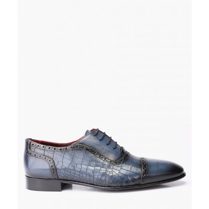 Image for Blue leather Derby shoes