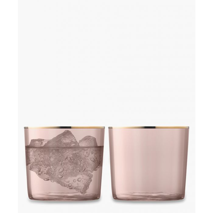 Image for 2pc Cinnamon sorbet glass tumbler set