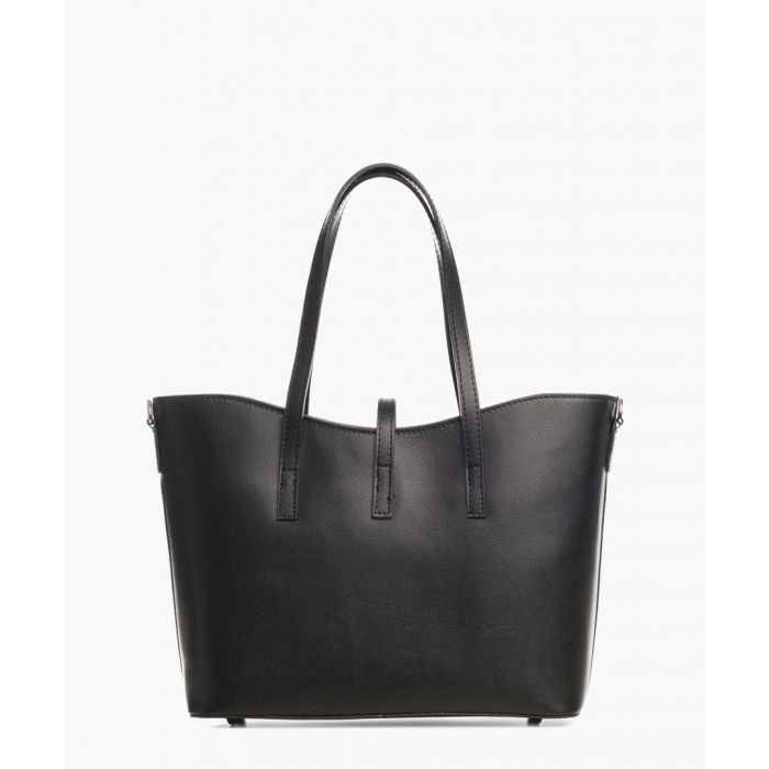 Image for Montalcino black leather shopper