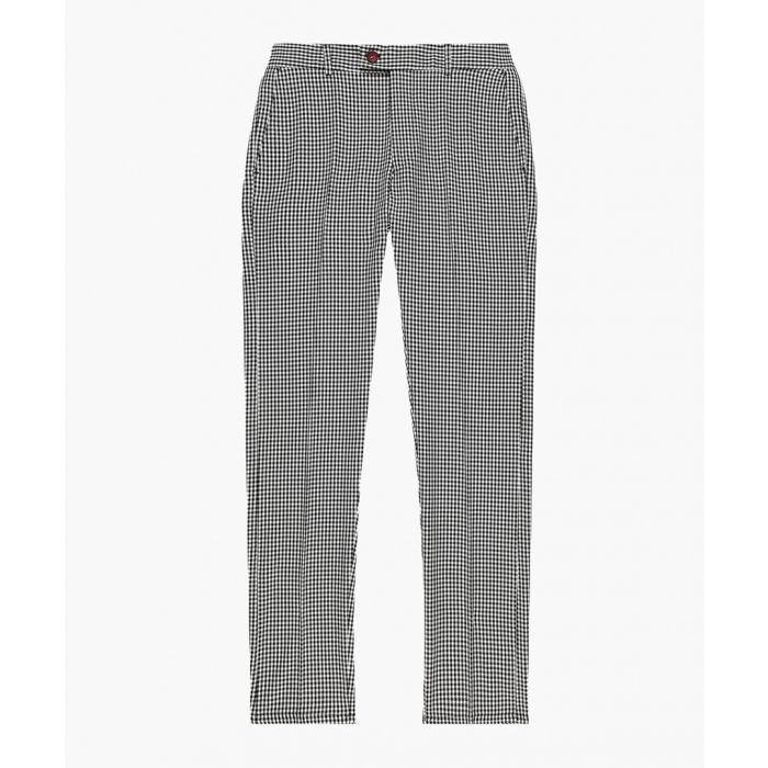 Image for Dogtooth pattern skinny fit trousers