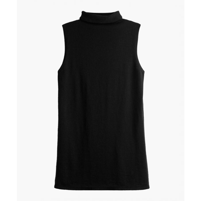 Image for The Palermo black pure cashmere rollneck sleeveless sweater