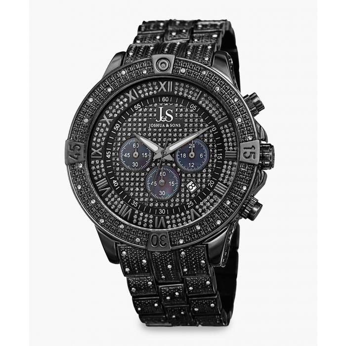Image for Black crystal-embellished watch