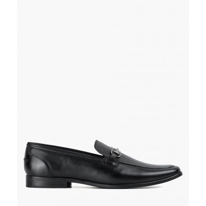 Image for Black leather loafers