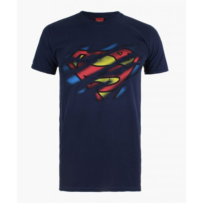 Image for Superman Torn navy blue cotton T-shirt