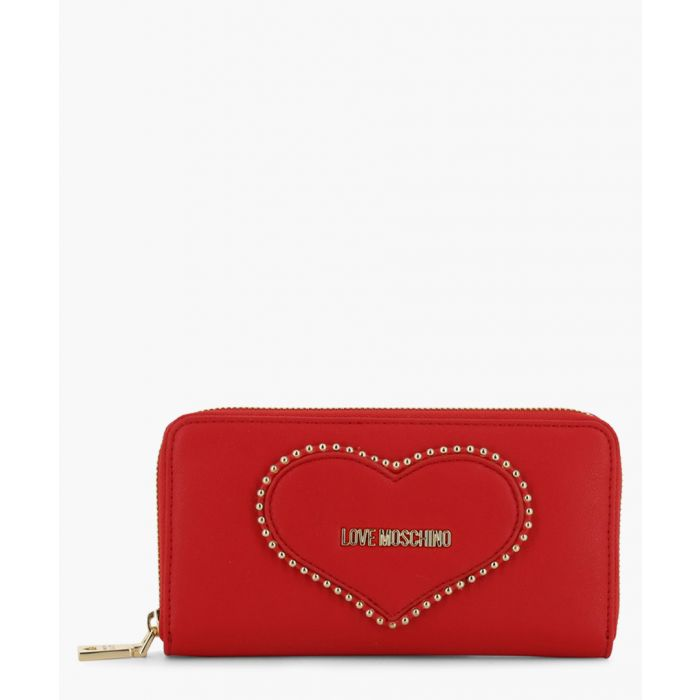 Image for Red faux-leather bag