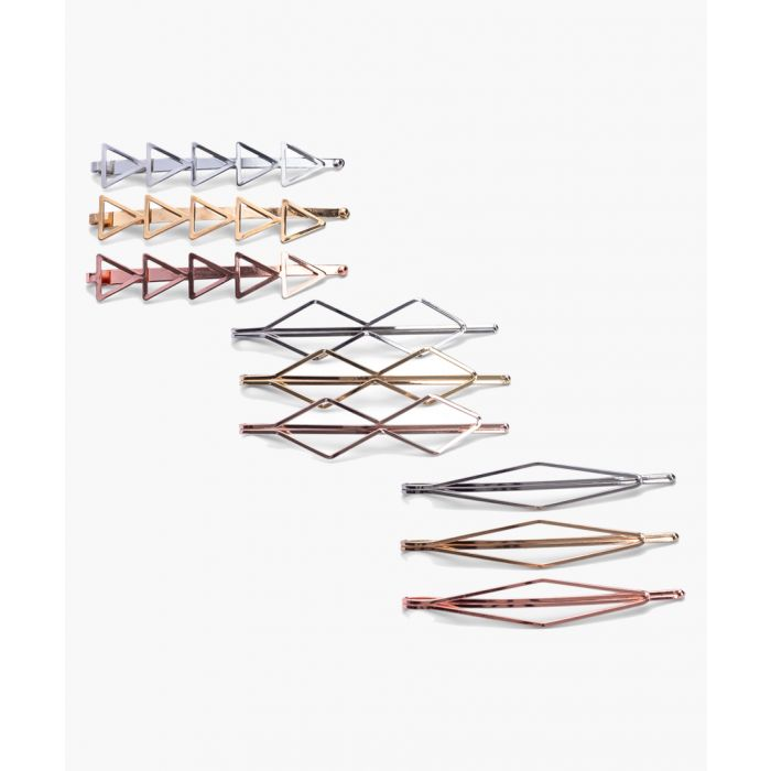 Image for 9pc Metallic bobby pins
