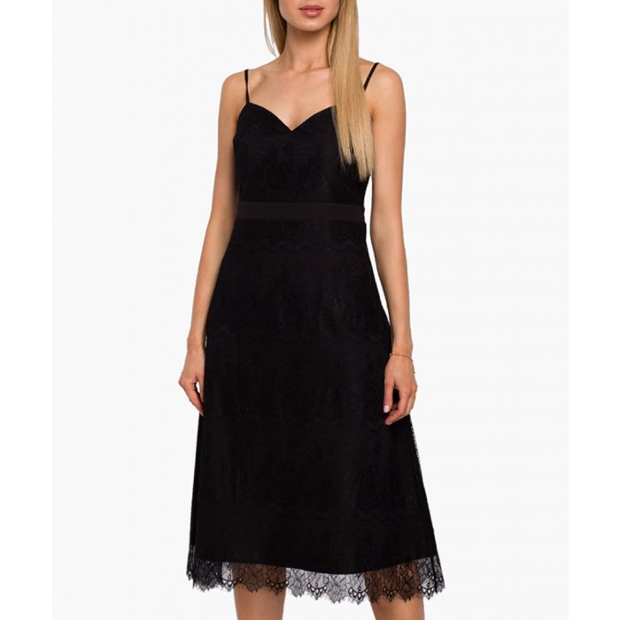 Image for Black lace overlay dress