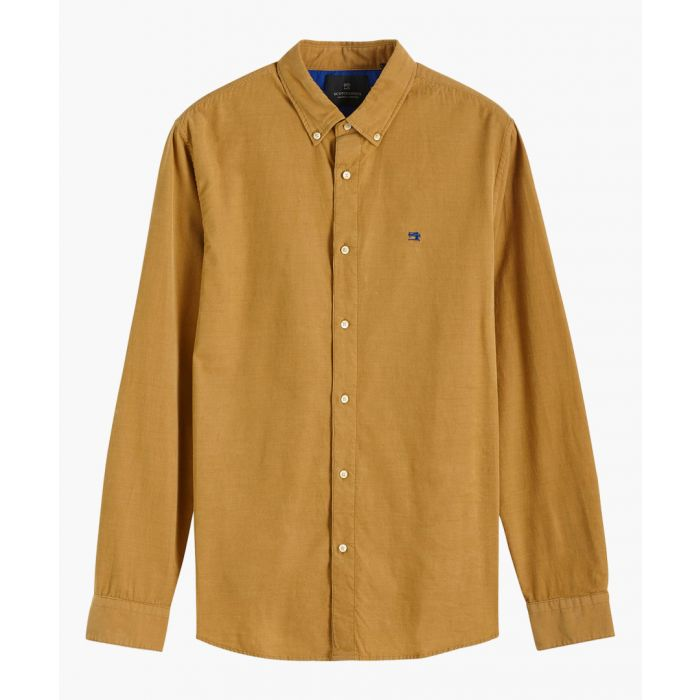 Image for Beige cotton curduroy shirt