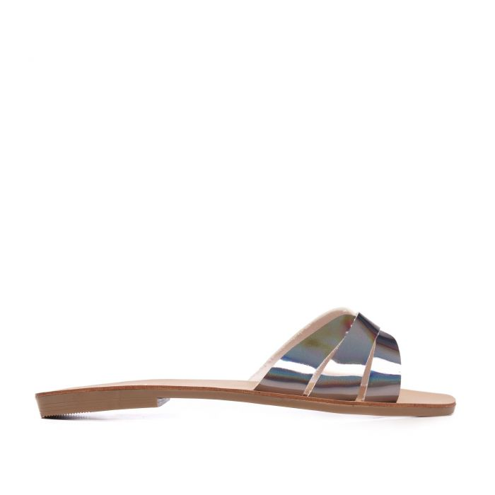 Image for Flat Leather Sandal for Women Eva Lopez