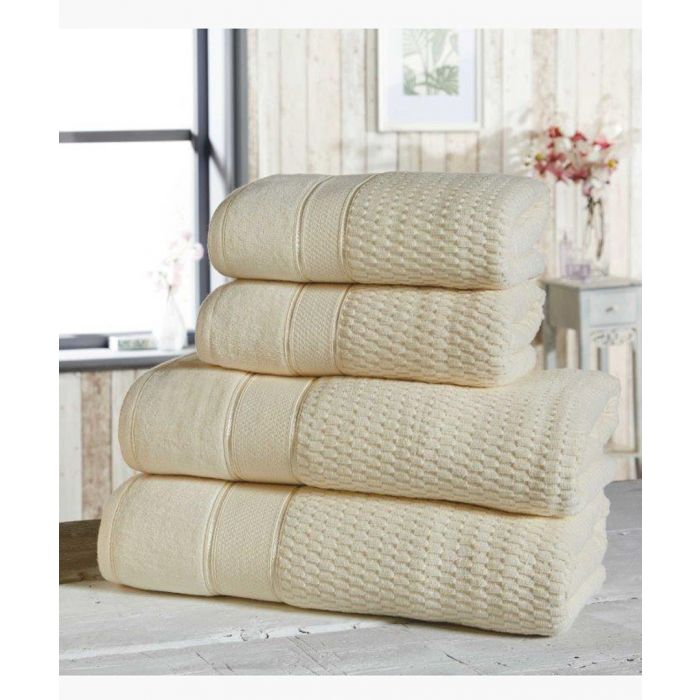Image for 4pc cream cotton towels