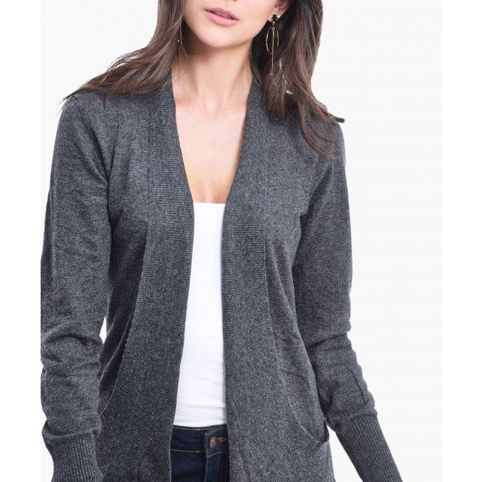 Image for Grey cashmere blend cardigan