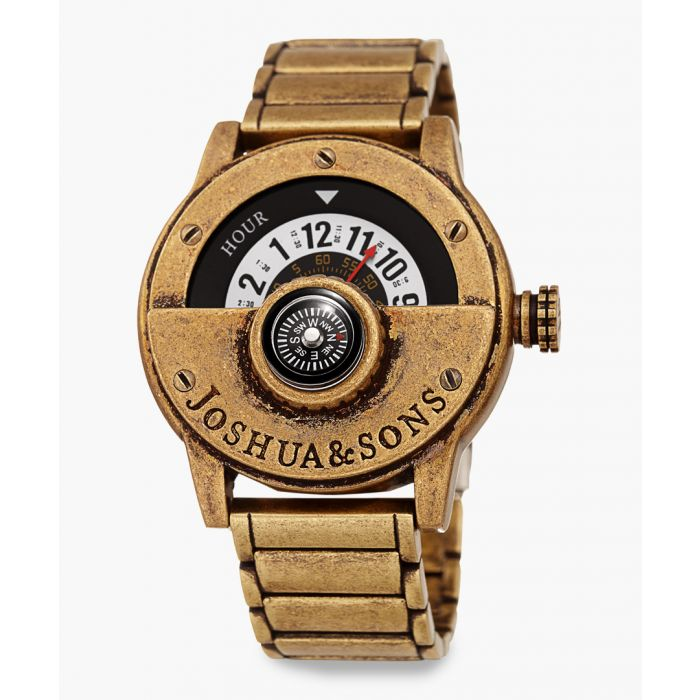 Image for Antique-finish brass watch