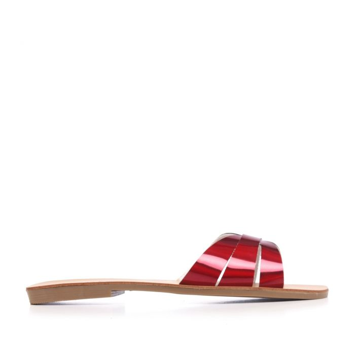 Image for Flat Leather Sandal for Women Eva Lopez