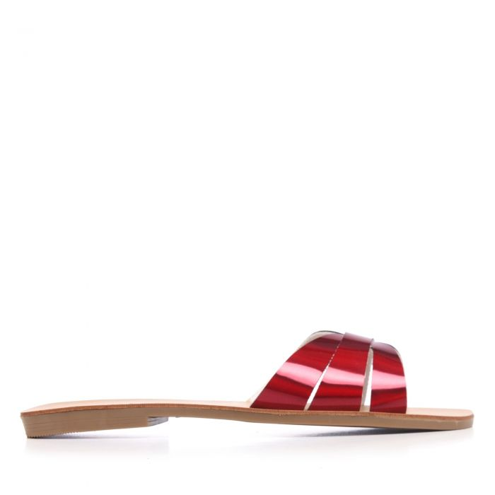 Image for Womens Red Metallic Sandal