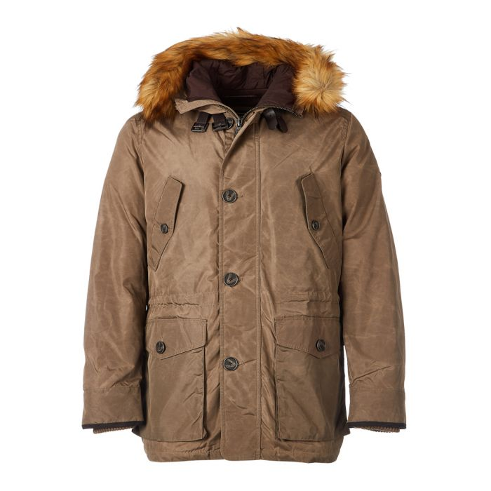 Image for Brown faux fur hood Arctic parka