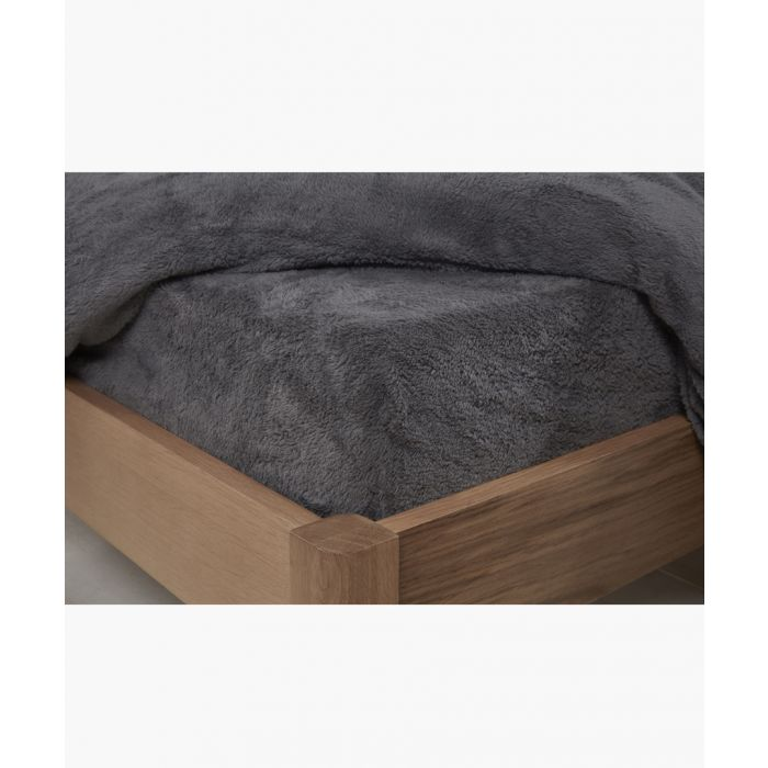 Image for Charcoal single teddy fitted sheet