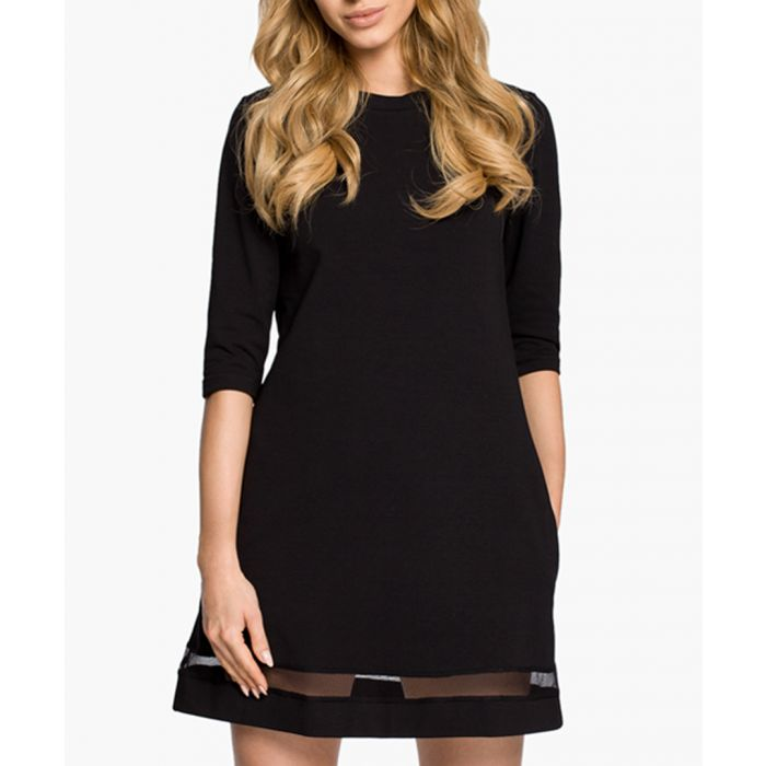 Image for Black Cotton Blend Dress