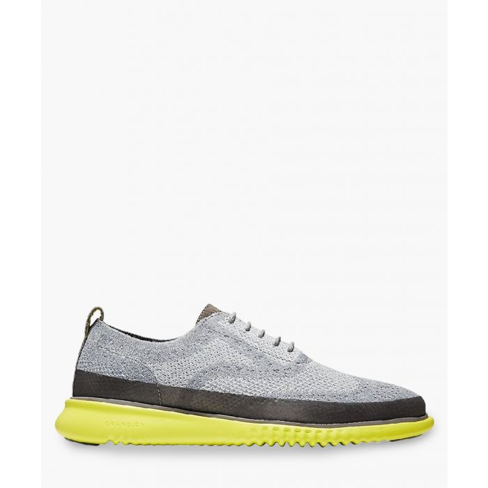 Image for Mens grey knit Oxford shoes