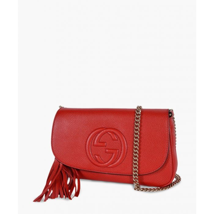 Image for Soho red leather crossbody