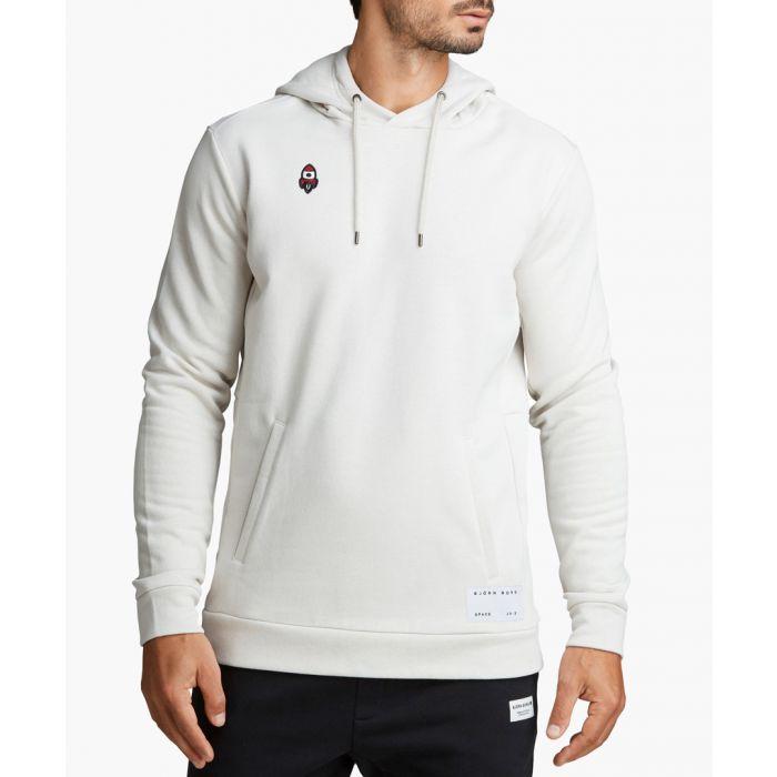 Image for Joris silver-tone organic cotton blend hoodie