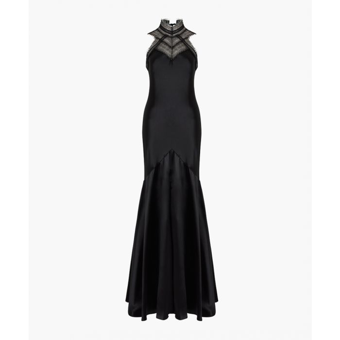 Image for Black pure silk maxi gown