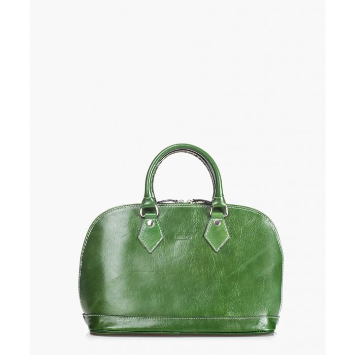 Image for Green leather grab bag