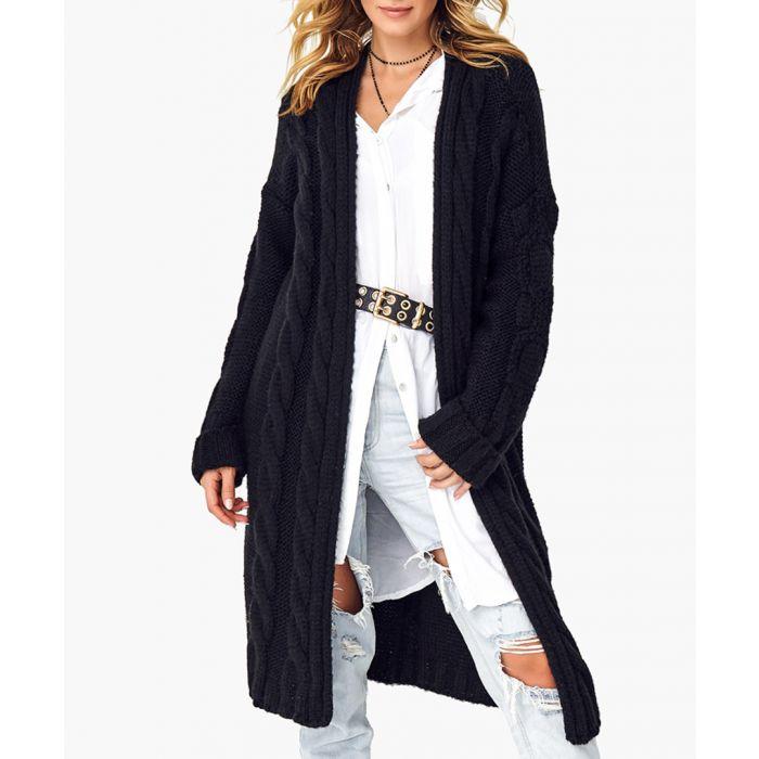 Image for Black wool blend jumper