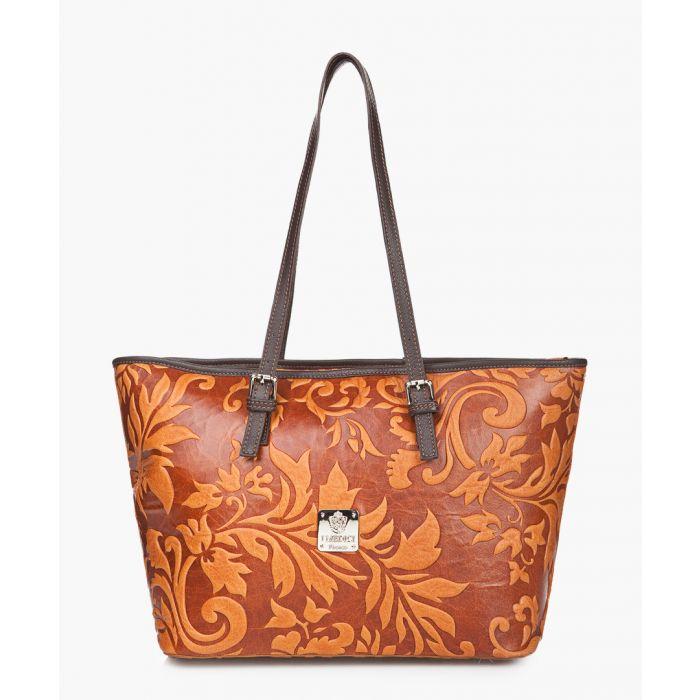 Image for Terracotta leather shoulder bag