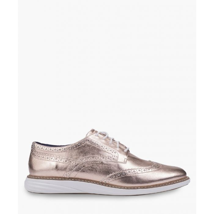 Image for Womens rose gold-tone Oxford shoes
