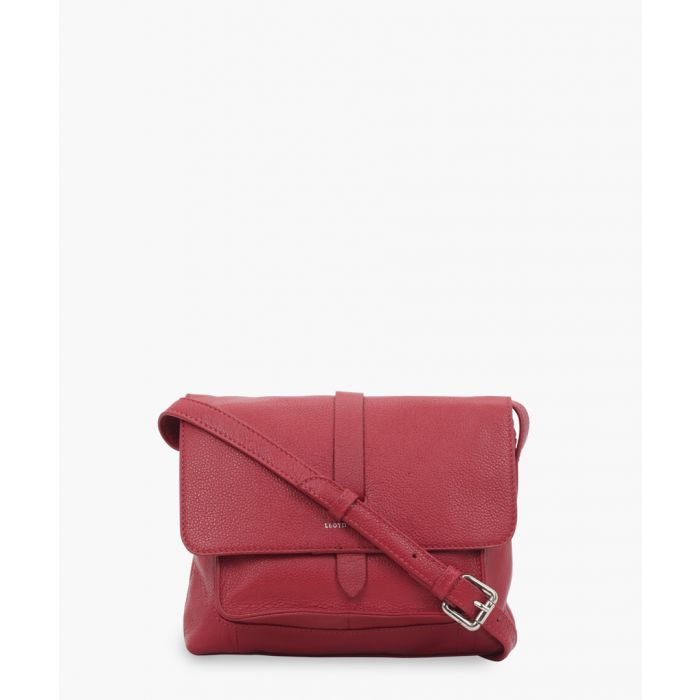 Image for Red leather crossbody