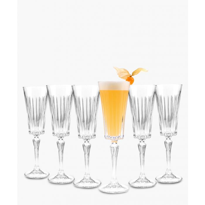 Image for 6pc Timeless champagne flutes glasses set